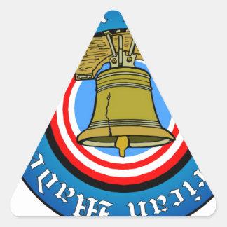 hbamlibertybell.PDF Triangle Sticker