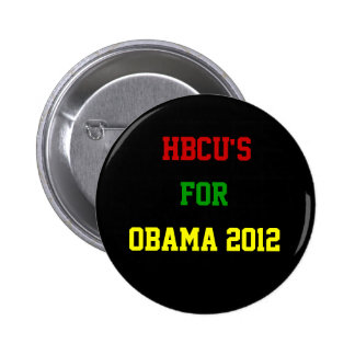 HBCU para Obama Pin Redondo 5 Cm
