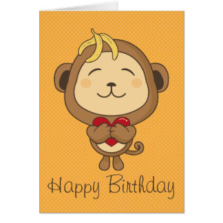 HBD monkey Card