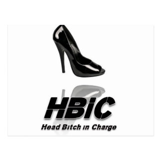 HBIC (Head Bitch In Charge) - 2010 Design Postcard