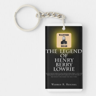 HBL - Rect Key Chain - Book Cover & Wanted Poster