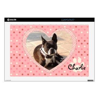 hc1.pngPink Polka Dot Crosshatch Heart Photo Frame Laptop Skin
