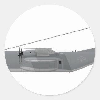 HC-130P Hercules SAR Classic Round Sticker