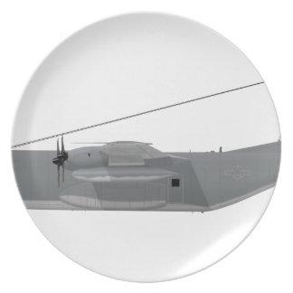 HC-130P Hercules SAR Melamine Plate