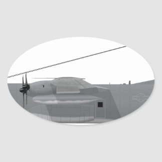 HC-130P Hercules SAR Oval Sticker