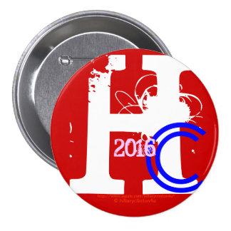 HC 2016 (Hillary Clinton Red White Blue Pink 2016) Button