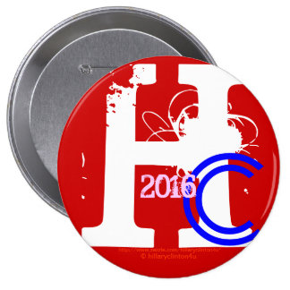 HC 2016 (Hillary Clinton Red White Blue Pink 2016) Buttons