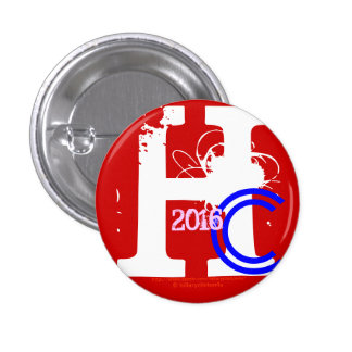 HC 2016 (Hillary Clinton Red White Blue Pink 2016) Pins