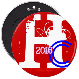 HC 2016 (Hillary Clinton Red White Blue Pink 2016) Pin