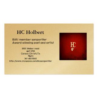 hc 2_3, HC Holbert, BMI member songwriterAward ... Business Card