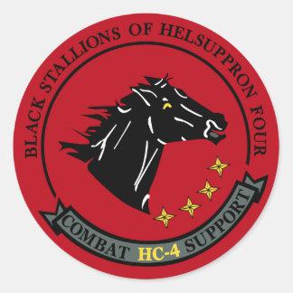 HC-4 Black Stallions Sticker