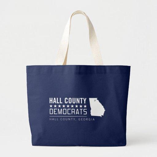 HCD: Logotipo del condado de Hall Demócratas Bolsa Tela Grande
