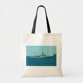 "HCMS Saskatchewan"", Canadian Navy destroyer escort Tote Bag"
