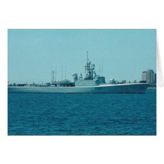 "HCMS Saskatchewan"", Canadian Navy destroyer escort Card"