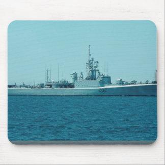 "HCMS Saskatchewan"", Canadian Navy destroyer escort Mouse Pad"