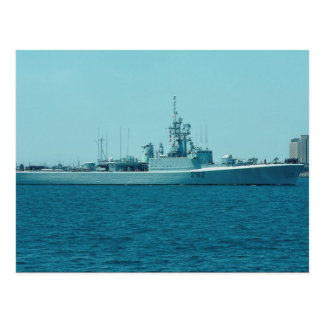 "HCMS Saskatchewan"", Canadian Navy destroyer escort Postcard"