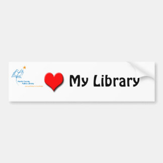 HCPL Library love Bumper Sticker