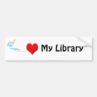 HCPL Library love Car Bumper Sticker