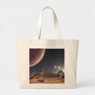 HD188753 Three suns NASA Large Tote Bag