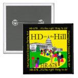 HD en el botón de la colina