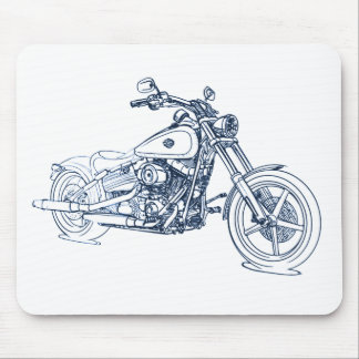 HD FXCW SoftailRocker 2009+ Mouse Pad