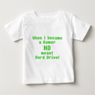 HD means Hard drive Baby T-Shirt