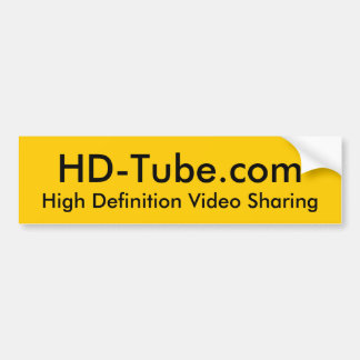 HD-Tube Bumper Sticker - Customized