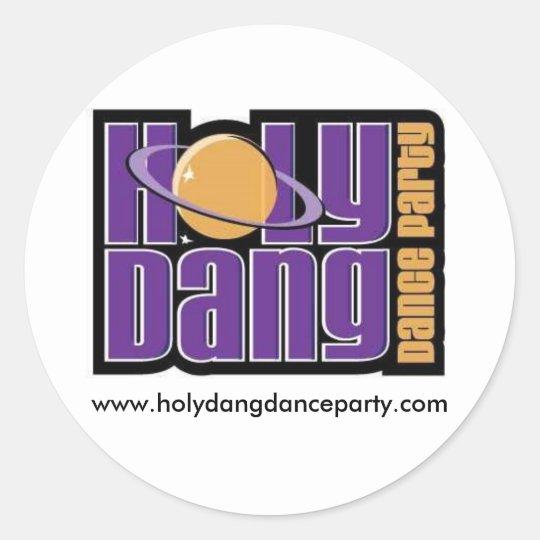 HDDP round sticker