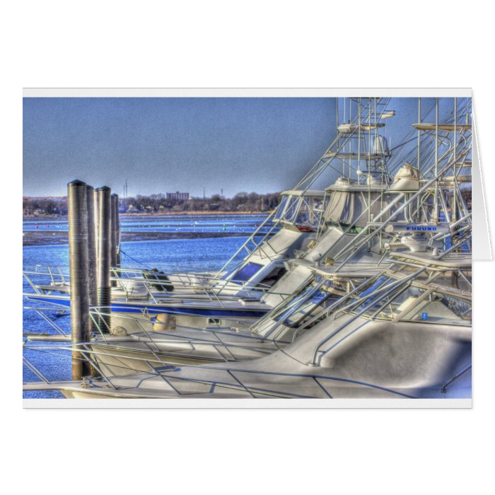 HDR 3 Yachts in a Row Card