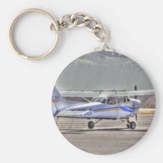 HDR Airplane Pointing Right Tail Back Diagonal Basic Round Button Keychain