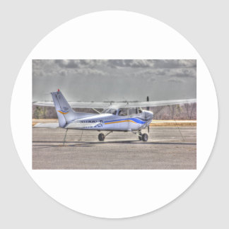 HDR Airplane Tied Pointed to Fly Round Stickers