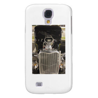 HDR Black Hot Rod Classic Vintage Big Engine Car Galaxy S4 Cover