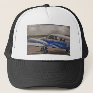 HDR Blue Plane Focal Point 2 in a Distance Trucker Hat
