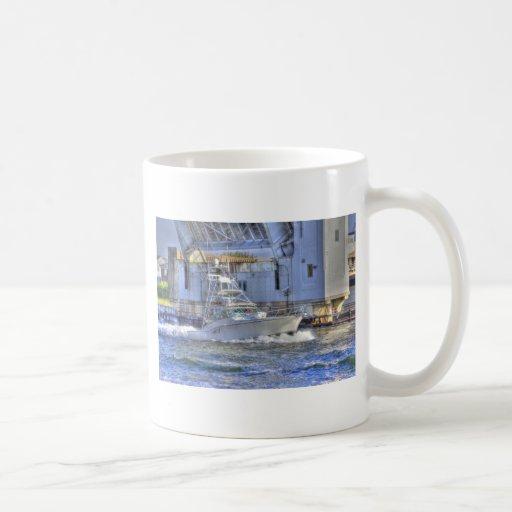 HDR Boat Boats Under Drawbridge Classic White Coffee Mug