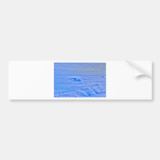 HDR Bright Ocean Waves Surfer Bumper Stickers