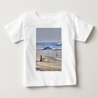 HDR Classic Beach Shot Fisbing Umbrella Sand Waves Baby T-Shirt