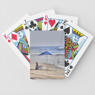 HDR Classic Beach Shot Fisbing Umbrella Sand Waves Bicycle Playing Cards