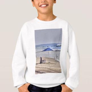 HDR Classic Beach Shot Fisbing Umbrella Sand Waves Sweatshirt