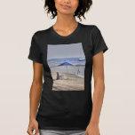 HDR Classic Beach Shot Fisbing Umbrella Sand Waves T Shirts