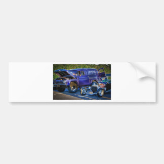 HDR Classic Muscle Cars Design Hot Rod Old School Bumper Sticker