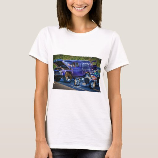 HDR Classic Muscle Cars Design Hot Rod Old School T-Shirt