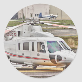 HDR Copter Red Gray Stripes Sticker