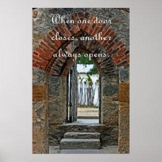 HDR Doorway - Canvas Poster