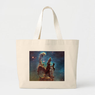 HDR Eagle Nebula Pillars of Creation Large Tote Bag