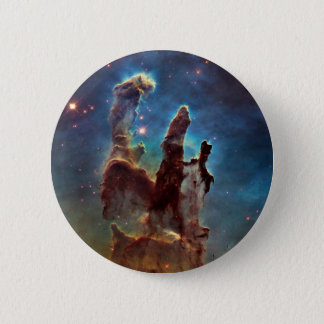 HDR Eagle Nebula Pillars of Creation Pinback Button