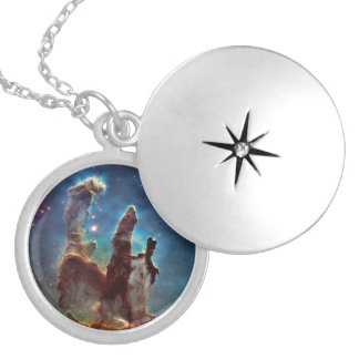 HDR Eagle Nebula Pillars of Creation Silver Plated Necklace