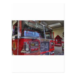 HDR Fire Truck Postcard