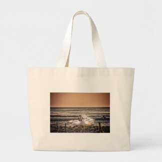 HDR Fishing Boat Morning Light Going Out to Fish Canvas Bag