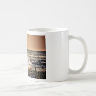 HDR Fishing Boat Morning Light Going Out to Fish Classic White Coffee Mug