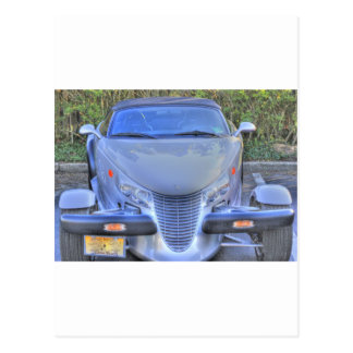 HDR Gray Plymouth Prowler Ready to Go Postcard